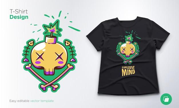 Squelette drôle. imprimez sur des t-shirts, des sweat-shirts et des souvenirs. illustration