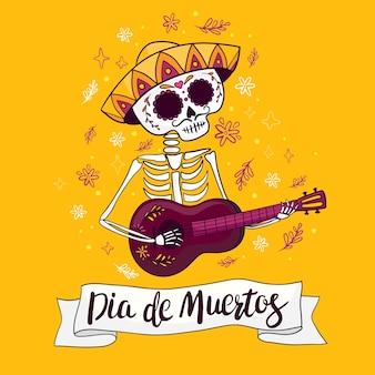 Squelette jour des morts