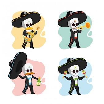 Squelettes de musicien