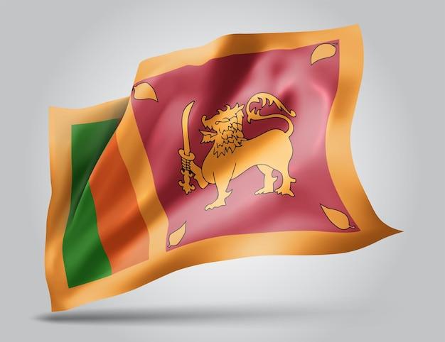 Sri lanka, vecteur 3d flag isolé sur fond blanc
