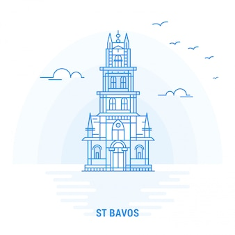 St bavos blue landmark