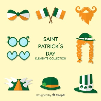 St dessiné à la main collection d'éléments de patrick's day