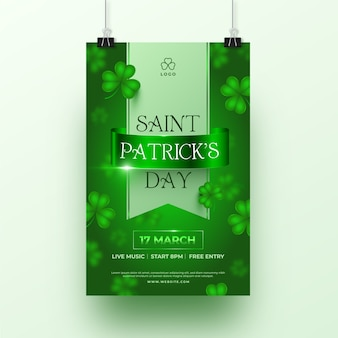 St floue. modèle d'affiche patricks day