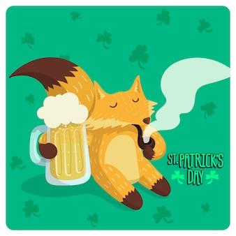 St. patrick's day fox