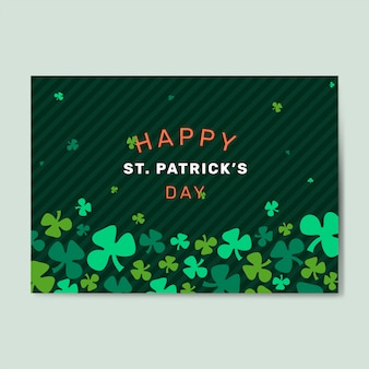 St. patrick's day set vector mise en page