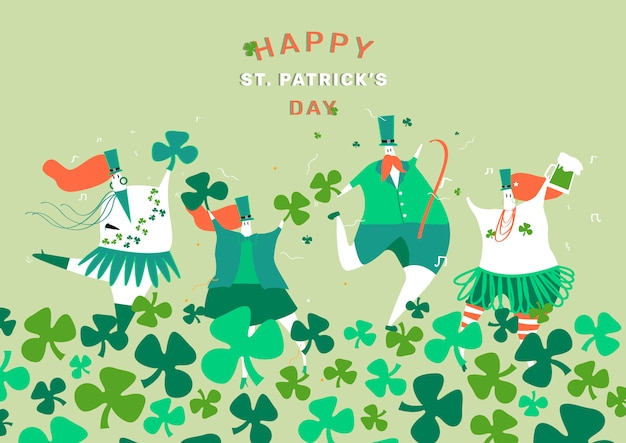 St. patrick's day set vector mise en page