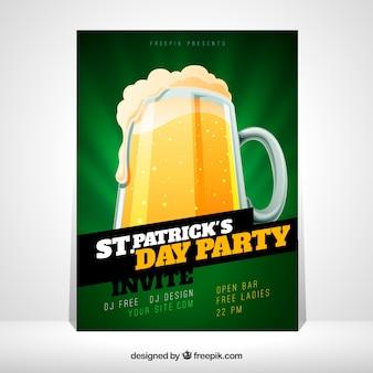 St. patrick's flyer / modèle d'affiche