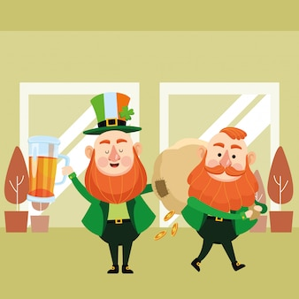 St patricks day cartoons elfes