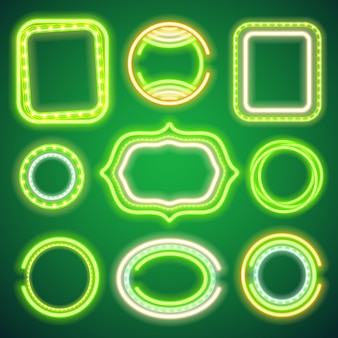 St patricks day neon banners
