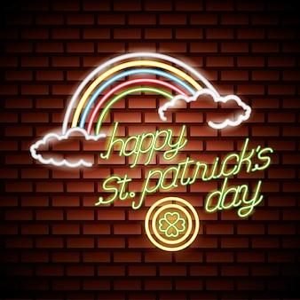 St patricks neon day