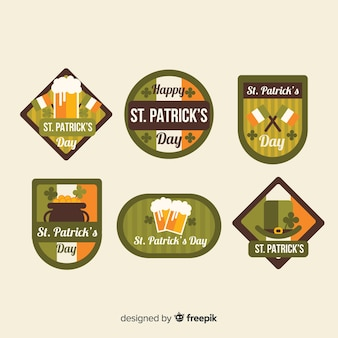 St plate collection d'insignes du jour de patrick