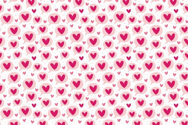St Valentin Amour Coeur Bulle Relation émotion Passion Motif Texture Fond Vecteur Premium