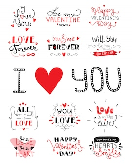 St. valentin day handwriting