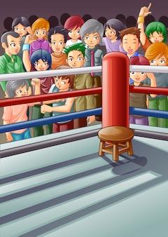 Stade de boxe.