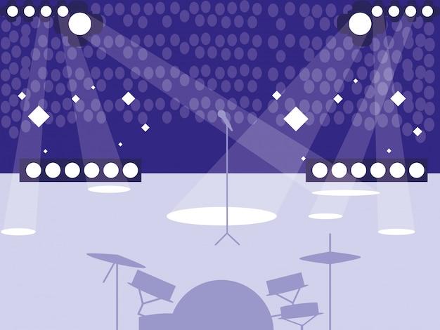 Stade avec concert rock