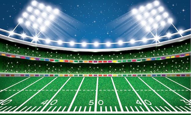 Stade de football américain. arène.