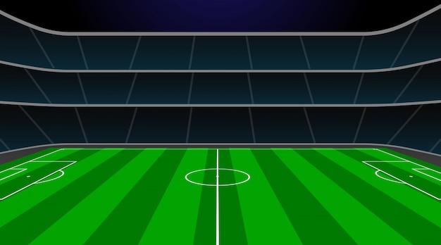 Stade de football avec terrain vert.