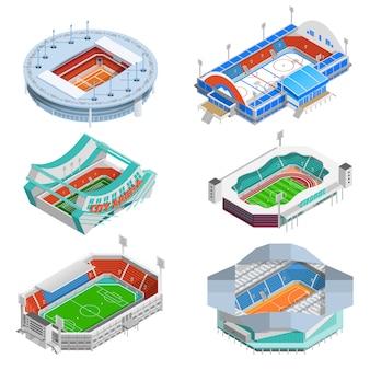 Stade icons set