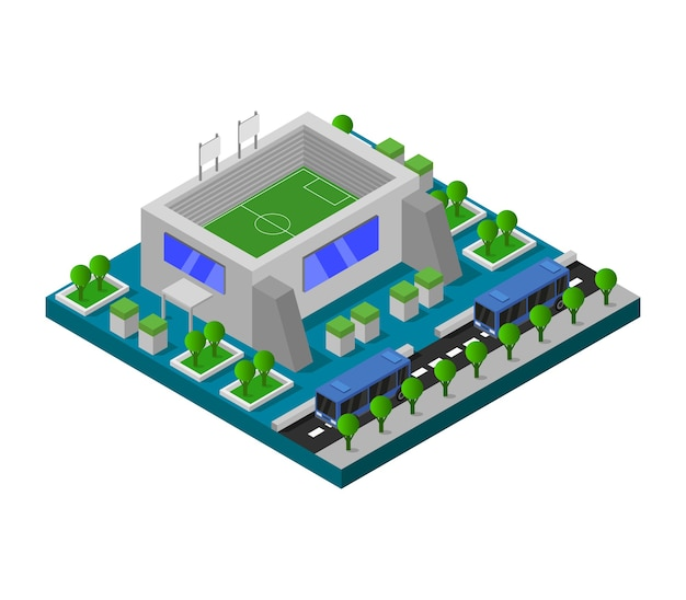Stade isométrique