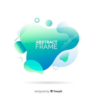 Stain abstract frame