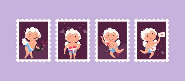 Stampes d'ange d'amour de cupidon de valentine.