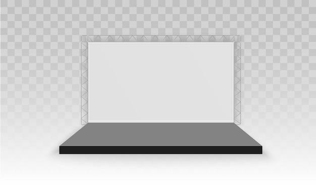 Stand d'exposition 3d promotionnel vide blanc
