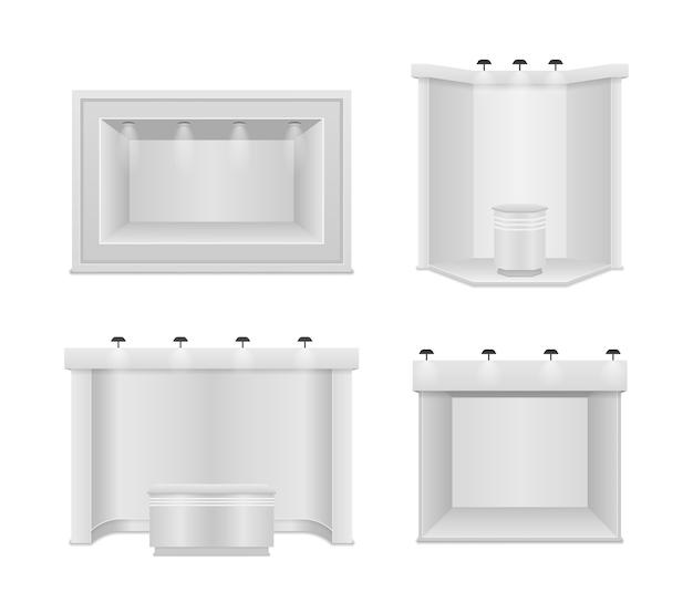 Stand d'exposition standard avec projecteurs