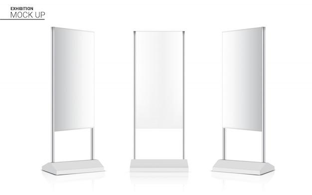Stand réaliste retrousser la cabine 3d pop de l'affichage de kiosque de bannière