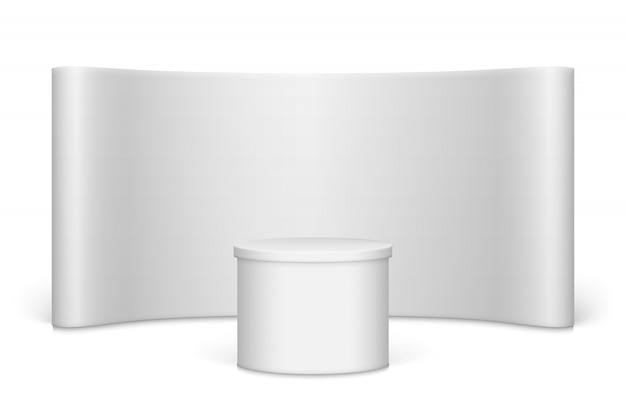 Stand de salon blanc blanc