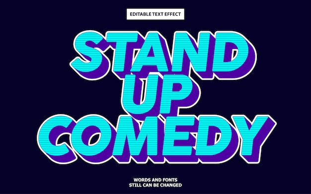 Stand up comedy text effect
