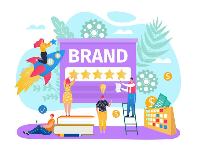 Star au concept de contenu de marque d'entreprise numérique