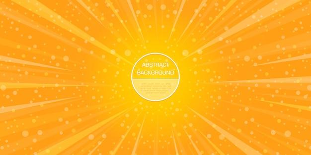 Star et bokeh abstrait jaune formes dynamiques gadient fond