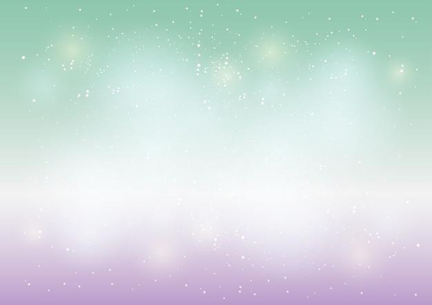 Star Et Bokeh Fond Clair Coloré Abstrait Vecteur Premium