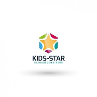 Star kids logo template