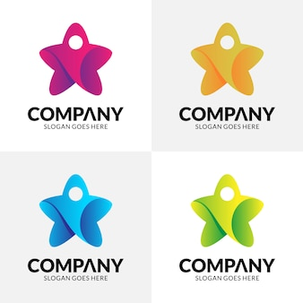 Star + people logo
