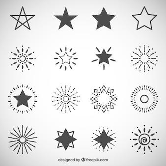 Stars et ornements sunburst paquet