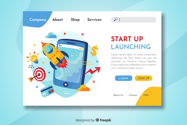 Start is landing page isometric