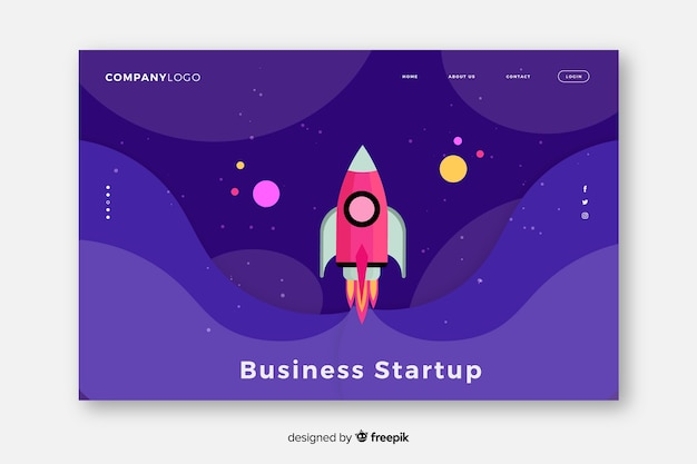 Start-up landing page de démarrage