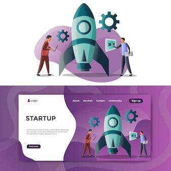 Startup illustration landing page
