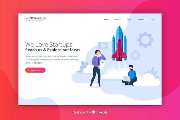 Startup modern landing page
