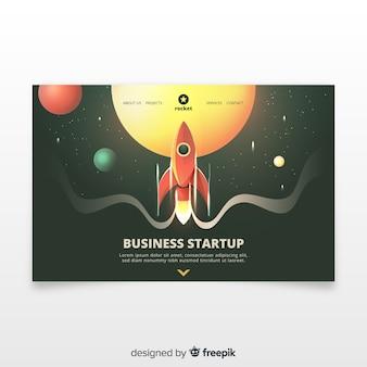 Startup page de démarrage avec une fusée