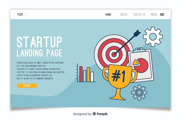 Startup professional landing page