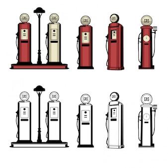 Station d'essence vintage