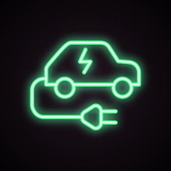 Station de recharge pour l'icône de voiture électrique