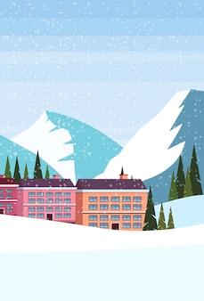 Station de ski hôtel