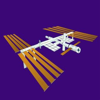 La station spatiale internationale issvector.