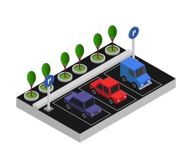 Stationnement isométrique