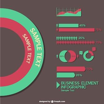 Statistiques éléments vectoriels infographiques