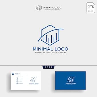 Statistiques hexagonales consulter l'illustration du modèle de logo