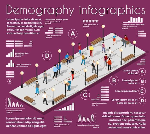 Statistiques d'illustration 3d des infrastructures urbaines